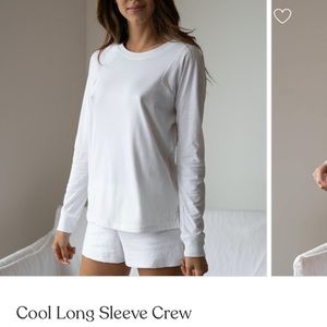 LUNYA Cool White Long Sleeve Crew Tee